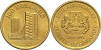 100 Dollars 1975 Singapur Republik vz  285,00 EUR  zzgl. 6,90 EUR Versand