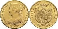 100 Reales 1868 Spanien Isabella II. ss-vz  420,00 EUR  zzgl. 6,90 EUR Versand