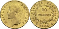 20 Francs 1806 A Frankreich Napoleon I. 1804-1814, 1815 vz-  400,00 EUR