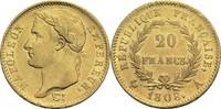 20 Francs 1808 A Frankreich Napoleon I. 1804-1814, 1815 ss+  380,00 EUR