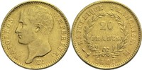 20 Francs 1807 M Frankreich Napoleon I. 1804-1814, 1815 ss  900,00 EUR