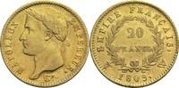 20 Francs 1809 W Frankreich Napoleon I. 1804-1814, 1815 ss  425,00 EUR
