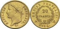 20 Francs 1814 W Frankreich Napoleon I. 1804-1814, 1815 ss+  700,00 EUR