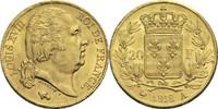 20 Francs 1818 A Frankreich Ludwig XVIII. 1814, 1815-1824 vz-  450,00 EUR