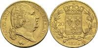 20 Francs 1820 A Frankreich Ludwig XVIII. 1814, 1815-1824 ss+  300,00 EUR
