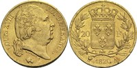 20 Francs 1820 A Frankreich Ludwig XVIII. 1814, 1815-1824 ss+  300,00 EUR  +  14,90 EUR shipping