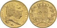 20 Francs 1822 A Frankreich Ludwig XVIII. 1814, 1815-1824 ss  275,00 EUR