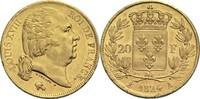 20 Francs 1824 A Frankreich Ludwig XVIII. 1814, 1815-1824 vz  500,00 EUR