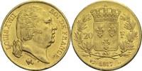 20 Francs 1817 L Frankreich Ludwig XVIII. 1814, 1815-1824 ss+  380,00 EUR