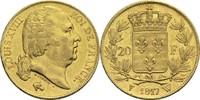 20 Francs 1817 W Frankreich Ludwig XVIII. 1814, 1815-1824 ss  300,00 EUR