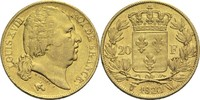 20 Francs 1822 W Frankreich Ludwig XVIII. 1814, 1815-1824 ss  575,00 EUR