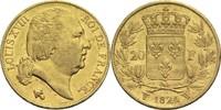 20 Francs 1824 W Frankreich Ludwig XVIII. 1814, 1815-1824 ss  330,00 EUR