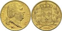 20 Francs 1820 Q Frankreich Ludwig XVIII. 1814, 1815-1824 ss+  400,00 EUR