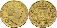 20 Francs 1824 Q Frankreich Ludwig XVIII. 1814, 1815-1824 ss  500,00 EUR