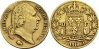 20 Francs 1818 T Frankreich Ludwig XVIII. 1814, 1815-1824 ss-  400,00 EUR