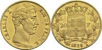 20 Francs 1828 T Frankreich Karl X. 1824-1830 ss+  2200,00 EUR