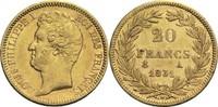 20 Francs 1831 A Frankreich Louis Philippe I. 1830-1848 ss  260,00 EUR