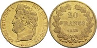 20 Francs 1832 A Frankreich Louis Philippe I. 1830-1848 ss  800,00 EUR