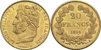 20 Francs 1834 A Frankreich Louis Philippe I. 1830-1848 vz-  450,00 EUR