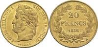 20 Francs 1836 A Frankreich Louis Philippe I. 1830-1848 ss+  380,00 EUR