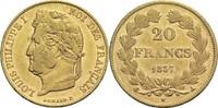 20 Francs 1837 A Frankreich Louis Philippe I. 1830-1848 ss  450,00 EUR