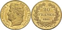 20 Francs 1840 A Frankreich Louis Philippe I. 1830-1848 vz-  380,00 EUR