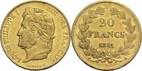 20 Francs 1841 A Frankreich Louis Philippe I. 1830-1848 ss+  330,00 EUR