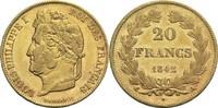 20 Francs 1842 A Frankreich Louis Philippe I. 1830-1848 ss-vz  650,00 EUR