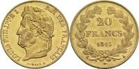 20 Francs 1843 A Frankreich Louis Philippe I. 1830-1848 ss+  320,00 EUR