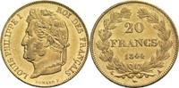 20 Francs 1844 A Frankreich Louis Philippe I. 1830-1848 vz-  430,00 EUR