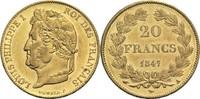 20 Francs 1847 A Frankreich Louis Philippe I. 1830-1848 vz  450,00 EUR  zzgl. 6,90 EUR Versand