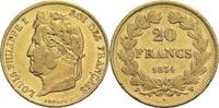 20 Francs 1834 W Frankreich Louis Philippe I. 1830-1848 ss  320,00 EUR  zzgl. 6,90 EUR Versand