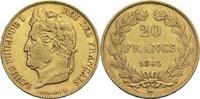 20 Francs 1843 W Frankreich Louis Philippe I. 1830-1848 ss  320,00 EUR  zzgl. 6,90 EUR Versand