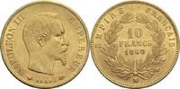 10 Francs 1860 BB Frankreich Napoleon III. 1852-1870 vz  480,00 EUR  zzgl. 6,90 EUR Versand
