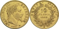 10 Francs 1863 BB Frankreich Napoleon III. 1852-1870 ss+  200,00 EUR  +  14,90 EUR shipping