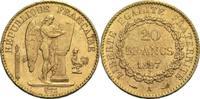 20 Francs 1897 A Frankreich 3. Republik 1871-1940 vz-  290,00 EUR  zzgl. 6,90 EUR Versand