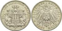 3 Mark 1911 J Hamburg, Freie und Hansestadt  Min. Rf., ss-vz  25,00 EUR  +  14,90 EUR shipping