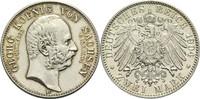 2 Mark 1904 E Sachsen Georg 1902-1904 vz-  75,00 EUR  zzgl. 6,90 EUR Versand