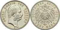 5 Mark 1904 E Sachsen Georg 1902-1904 ss-vz  240,00 EUR  zzgl. 6,90 EUR Versand