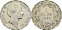 Gulden 1865 Bayern Ludwig II. 1864-1886 min. Rf., vz-  200,00 EUR  +  14,90 EUR shipping