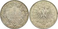 Gulden 1861 Frankfurt am Main Freie Stadt 1815-1866 Kl. Rf., ss+  130,00 EUR  +  14,90 EUR shipping