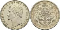 Vereinsdoppeltaler 1861 B Sachsen Johann 1854-1873 vz  360,00 EUR  zzgl. 6,90 EUR Versand