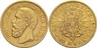 10 Mark 1876 G Baden, Großherzogtum Friedrich I. 1852-1907 ss+  250,00 EUR  zzgl. 6,90 EUR Versand