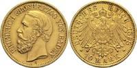 10 Mark 1898 G Baden, Großherzogtum Friedrich I. 1852-1907 ss / vz  310,00 EUR  zzgl. 6,90 EUR Versand