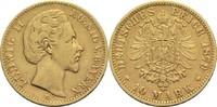 10 Mark 1879 D Bayern, Königreich Ludwig II. 1864-1886 Kl. Rf., ss  225,00 EUR  +  14,90 EUR shipping