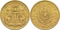 10 Mark 1878 J Hamburg Freie Hansestadt Kl. Rf., ss  265,00 EUR  +  14,90 EUR shipping
