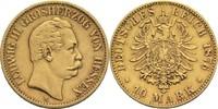 10 Mark 1876 H Hessen, Großherzogtum Ludwig III. 1848-1877 etw. ber., ss  320,00 EUR  +  14,90 EUR shipping