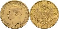10 Mark 1896 A Hessen, Großherzogtum Ernst Ludwig 1892-1918 ber., ss  1100,00 EUR  +  19,80 EUR shipping
