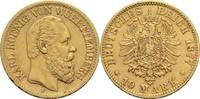 10 Mark 1877 F Württemberg, Königreich Karl 1864-1891 Kl. Kr. u. Rf., s... 220,00 EUR  zzgl. 6,90 EUR Versand