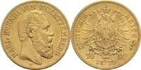 10 Mark 1872 F Württemberg, Königreich Karl 1864-1891 ss+  240,00 EUR  zzgl. 6,90 EUR Versand